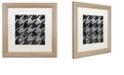 """Trademark Global Color Bakery 'Houndstooth Vi' Matted Framed Art, 16"""" x 16"""""""