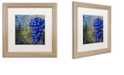 "Trademark Global Color Bakery 'Vino Blu One' Matted Framed Art, 16"" x 16"""