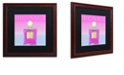 "Trademark Global Color Bakery 'Colored Scents Iii' Matted Framed Art, 16"" x 16"""