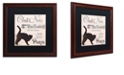 """Trademark Global Color Bakery 'Les Chats Ii' Matted Framed Art, 16"""" x 16"""""""