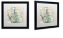 "Trademark Global Color Bakery 'Pots Bleus I' Matted Framed Art, 16"" x 16"""