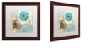 """Trademark Global Color Bakery 'Beach Poppies Iv' Matted Framed Art, 16"""" x 16"""""""