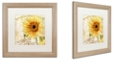 "Trademark Global Color Bakery 'Ete Ii' Matted Framed Art, 16"" x 16"""