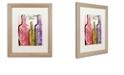 "Trademark Global Color Bakery 'Wine Tasting Ii' Matted Framed Art, 16"" x 20"""