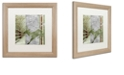 """Trademark Global Color Bakery 'Country Xmas Deer' Matted Framed Art, 16"""" x 16"""""""