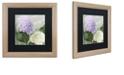 """Trademark Global Color Bakery 'Hortensia 1' Matted Framed Art, 16"""" x 16"""""""