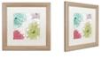 "Trademark Global Color Bakery 'Kasumi Five' Matted Framed Art, 16"" x 16"""