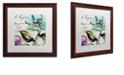 "Trademark Global Color Bakery 'Dogwood I' Matted Framed Art, 16"" x 16"""