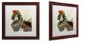 "Trademark Global Color Bakery 'Butterfly Brocade Iii' Matted Framed Art, 16"" x 16"""