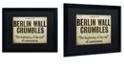 "Trademark Global Color Bakery 'Berlin Wall' Matted Framed Art, 16"" x 20"""