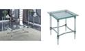 Furniture of America Jourdan Glass Top End Table