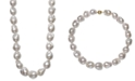 """Belle de Mer Cultured Baroque Freshwater Pearl (13 to 16mm) 17"""" Collar Necklace"""
