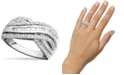 Macy's Diamond Bypass Ring in Sterling Silver (1/2 ct. t.w.)