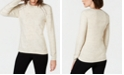 INC International Concepts I.N.C. Casual Raglan Lace-Up Sweater, Created for Macy's