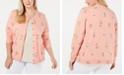 Karen Scott Plus Size Springtime Posy Cardigan, Created for Macy's