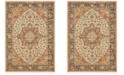 "Oriental Weavers Toscana 9551A Ivory/Orange 6'7"" x 9'6"" Area Rug"