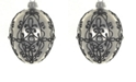 """Badash Crystal Shiny Graphite Mouth Blown & Hand Decorated European 4"""" Egg Shape Holiday Ornament"""