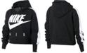 Nike Big Girls Cropped Air-Print Fleece Hoodie