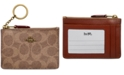 COACH Colorblock Signature Mini ID Skinny Wallet