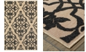 "Oriental Weavers Cayman 001B9 Sand/Charcoal 3'10"" x 5'5"" Indoor/Outdoor Area Rug"