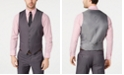 Perry Ellis Men's Portfolio Slim-Fit Stretch Gray Solid Suit Vest