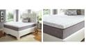 "Future Foam 12"" Comfort Loft Gray Rose with Ebonite Twin Memory Foam and Comfort Choice, Firm"