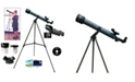 Cosmo Brands Cassini 600 X 50 Starter Telescope with Red Dot Finderscope and Stellarium CD