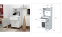 Inval America Microwave Storage Cabinet