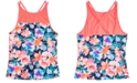 Ideology Big Girls Floral-Print Tankini Swim Top, Created for Macy's
