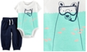 Carter's Baby Boys 2-Pc. Snorkel Bear Cotton Graphic & Sweat Pants Set