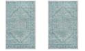 Safavieh Adirondack Light Gray and Teal 3' x 5' Area Rug