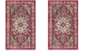Safavieh Monaco Fuchsia and Light Blue 3' x 5' Area Rug