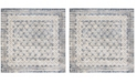 """Safavieh Brentwood Light Gray and Blue 6'7"""" x 6'7"""" Square Area Rug"""