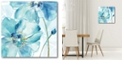 """Courtside Market Light Blue Flower I Gallery-Wrapped Canvas Wall Art - 16"""" x 16"""""""