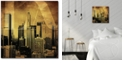 """Courtside Market Golden LA Gallery-Wrapped Canvas Wall Art - 16"""" x 16"""""""