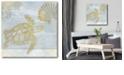 "Courtside Market Azure Coastal Calm Gallery-Wrapped Canvas Wall Art - 16"" x 16"""