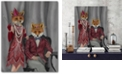 """Courtside Market Fox Couple 1920s Gallery-Wrapped Canvas Wall Art - 16"""" x 20"""""""