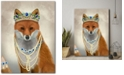 """Courtside Market Fox with Tiara Portrait Gallery-Wrapped Canvas Wall Art - 18"""" x 24"""""""