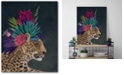 """Courtside Market Hothouse Leopard Gallery-Wrapped Canvas Wall Art - 18"""" x 24"""""""