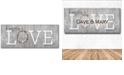 """Courtside Market Love - Do Everything in Love Gallery-Wrapped Canvas Wall Art - 12"""" x 30"""""""