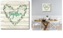 """Courtside Market Gather Together Heart Wreath Gallery-Wrapped Canvas Wall Art - 16"""" x 16"""""""