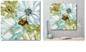 """Courtside Market Seaglass Garden I Gallery-Wrapped Canvas Wall Art - 20"""" x 20"""""""