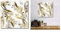 """Courtside Market Botanical in Gold I Gallery-Wrapped Canvas Wall Art - 16"""" x 16"""""""