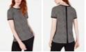 Anne Klein Printed Button-Back Top