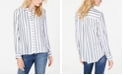 INC International Concepts INC Metallic-Stripe Shirt, Created for Macy's