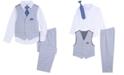 Nautica Little Boys 4-Pc. Double Windowpane Vest Set