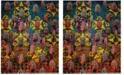 Safavieh Fiesta Turquoise and Multi 9' x 12' Area Rug