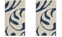 "Safavieh Shag Cream and Blue 2'3"" x 4' Area Rug"