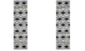 "Safavieh Tunisia Light Grey and Blue 2'3"" x 8' Runner Area Rug"