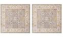 Safavieh Windsor Gray and Cream 6' x 6' Square Area Rug
